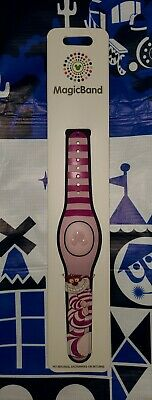 NEW Disney Parks Cheshire Cat Alice In Wonderland Magic Band Pink Stripes 2019