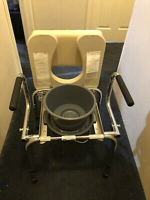Guardian Padded Drop-Arm Commode Seat Chair