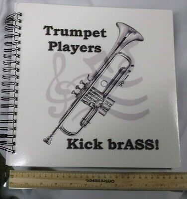Trumpet Players Kick brASS! - Drawing Book -- NEVER USED