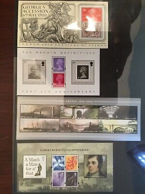16 x beautiful Modern GB Miniature Sheets Selling as 1 lot around f/v Look !