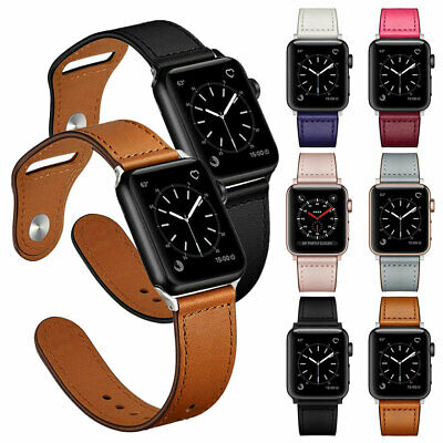 Genuine Leather Band Strap for iWatch Apple Watch Series 5 4 3 2 40/44mm 38/42mm