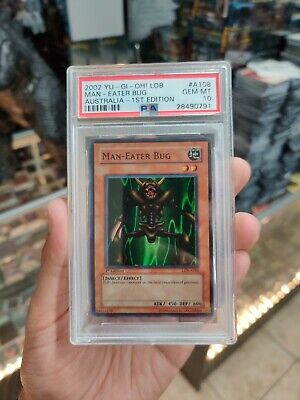 MAN EATER BUG YU GI OH LEGEND OF BLUE EYES LOB PSA 10 HOLO 1st EDITION!!! RARE!!
