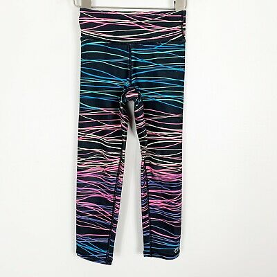 Gap Kids Gapfit Girls Activewear Leggings Pants Black Pink Blue Size XS