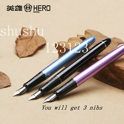 hero new gift 3 in one set Duckbill parallel tip Bold calligraphy Fountain Pens