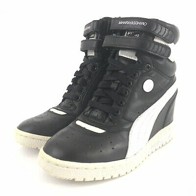 PUMA BY MIHARA Yasuhiro Wedge Sneakers Black Womens Size