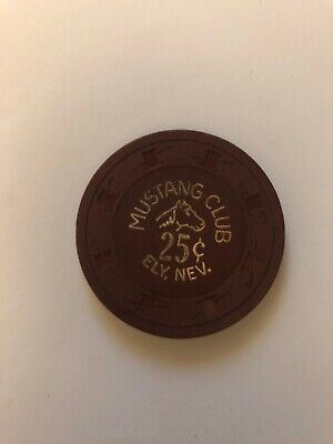 Mustang Club 25cent ELY Casino Chip
