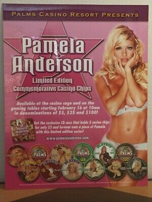 Pamela Anderson Las Vegas Palms Casino PlayBoy Poker Chip Poster 28 by 22 inches