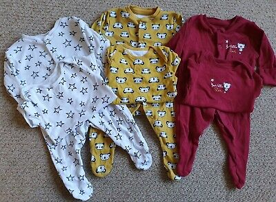 Matching Baby Sleepsuit And Vest Bundle age 0-3 months