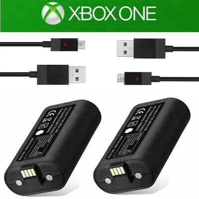 2x Rechargeable Li-ion Battery Pack Play & Charge Kit for Microsoft Xbox One US