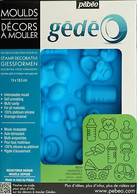 Pebeo Gedeo Silicone Mould - Baby (13 x 18.5cm)