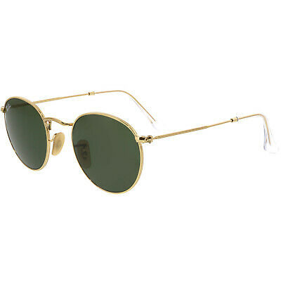 Ray-Ban Polarized Round Metal RB3447-001-47 Gold Sunglasses
