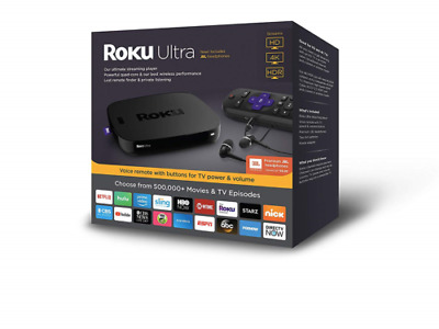 Roku 4661R 4K Ultra HD Streaming Media Player Device w/ Voice Remote & Earbuds