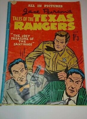Vintage  Tales Of The Texas Rangers Comic No 8 1959