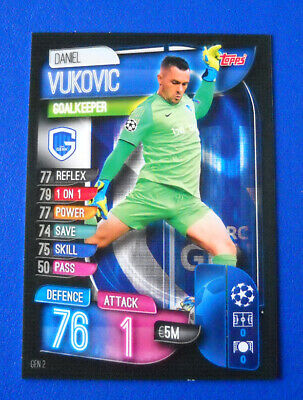 Topps Match Attax Champions League 2019/20 2020 #Gen 2 - Vukovic - Genk