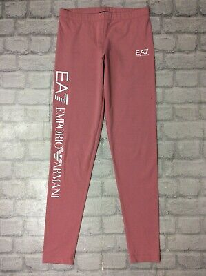 Ea7 Emporio Armani Ladies Uk S Pink Leggings Casual Sportswear Gym Activewear