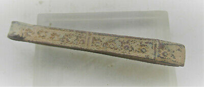 Ancient Roman Bronze Decorated Medical Or Hygienical Tweezers 200-300Ad