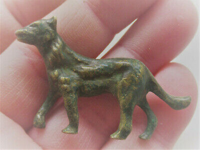 European Finds Ancient Roman Bronze Wolf Figurine Circa 200-300Ad
