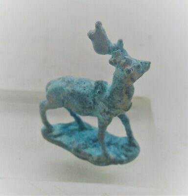 Circa 1000Bce Ancient Luristan Bronze Stag Or Deer Figurine