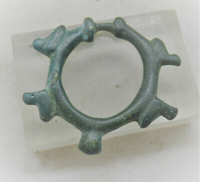 Circa 100Bc-100Ad Ancient Celtic Bronze Proto Ring Money Ancient Currency