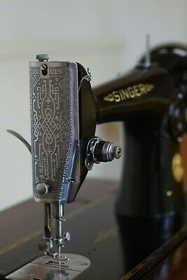 Singer 201K sewing machine. Serviced.  In original cabinet. Stunning condition
