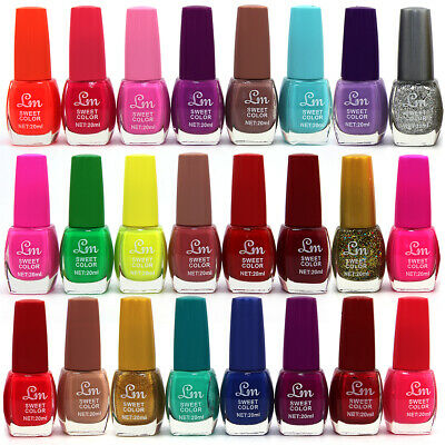 24 x Big Nail Polish Varnish Set 24 Different Sweet Colours 20ml UK Seller