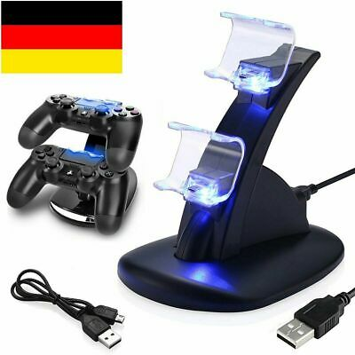 PS4 Playstation4 Ladestation Dockingstation USB Dual-Controller Ladegerät LED DE