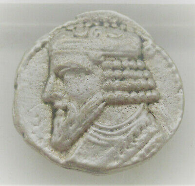 Unresearched Ancient Parthian Silver Drachm Coin
