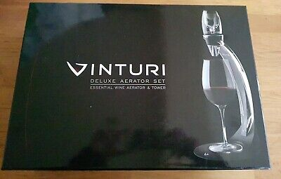 Vinturi Red Wine Aerator Tower Set Accessories Pourer Gift Set Collectable Boxed