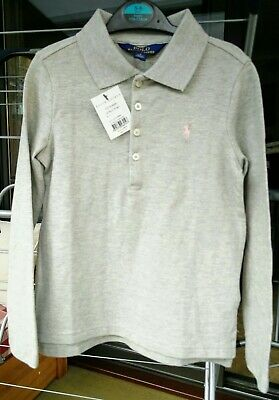 Girls Ralph Lauren Polo Long Sleeve T-Shirt Aged 5-6 Years 100% Authentic New