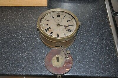 WW1 Seth Thomas Ships Bell Clock c1900 Not Working for Restoration