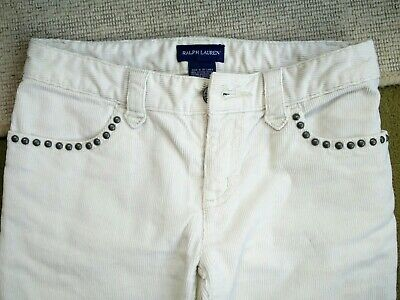 Girls Ralph Lauren Cord Trousers Aged 7-8 Years 100% Authentic Hardly Worn