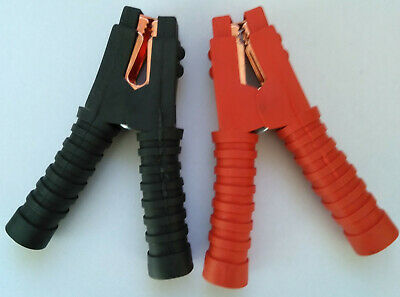 Heavy Duty Croc Clips Fully Insulated Booster Cable Jump Lead alligator clamps
