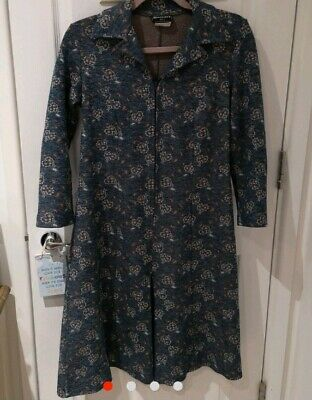 Vintage Damart blue heart paisley print cropped jumpsuit playsuit 10
