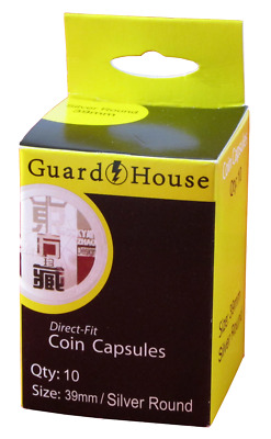 Guard House Direct Fit Coin Capsules Box of 10 39mm