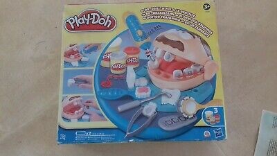 Play-Doh Doctor Drill 'n Fill Set Dentist Electric-Drill Tooth-Mould Used