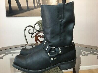 🔥DOUBLE H  MENS ROAD WARRIOR HARNESS MOTORCYCLE BLACK BOOTS Sz 14 D 4008🔥  #16