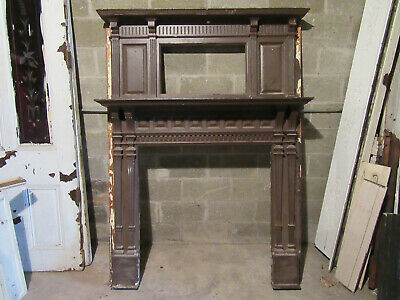 ~ Tall Ornate Antique Fireplace Mantel ~ 55 X 74 ~ Architectural Salvage