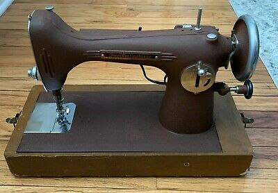 Vintage Antique FREE WESTINGHOUSE Sewing Machine with Foot Pedal & Case