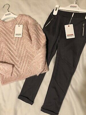 Girls Oufit Matching Jumper & Bottoms, Age 4-5, Minoti Outfit, New With Tags