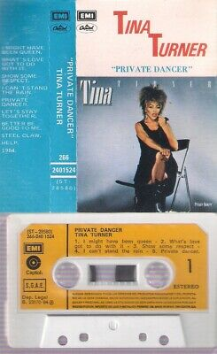 "TINA TURNER Private dancer ""Bailarina privada"" SPANISH TITTLES  CASSETTE SPAIN"