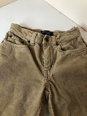 Polo Ralph Lauren Boys Age 5-6 yrs Beige Cords Trousers Smart Formal Christmas
