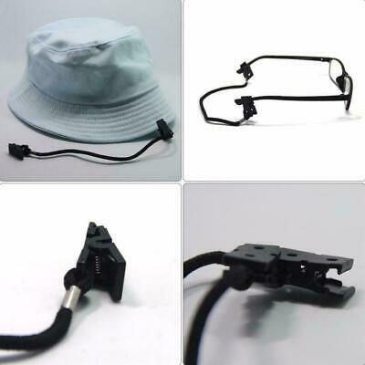 9mm Black Polyester Fiber Safety Wind Clips Lanyard Cord For Hat Cap Scarf