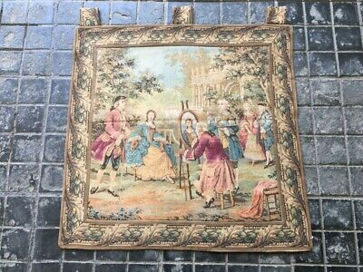 466A-Aubusson Tapestry French Size: 60.96 X 60.96 cm