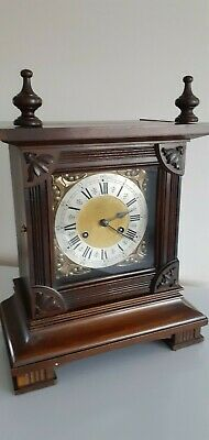 Attractive Antique P.h.s. Quality German Wooden Cased 8 Day Bracket Clock.