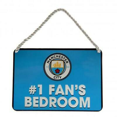 Manchester City FC Official Crested Metal Bedroom Sign No 1 Fan Present Gift