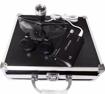 Doc.Royal 3.5X 420mm Working Distance Optical Glass Surgical Binocular Loupes +