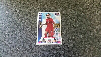 Match Attax Ucl 2018/19 No-438 Mohamed Salah Hundred 100 Club 101/101 Mint