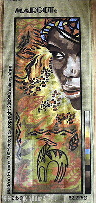 AFRICAN BEAUTY ~ New TAPESTRY CANVAS from MARGOT, FRANCE