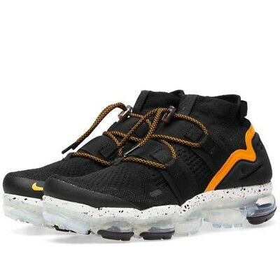 Nike Air Vapormax Flyknit Utility Mens Trainers Uk Size 9 44 AH6834 008 Black