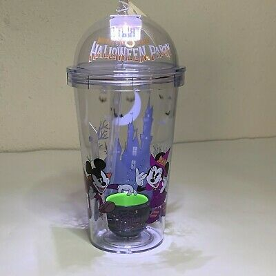 Disney Mickey's Not So Scary Halloween Party 2019 Tumbler Cup Cauldron Lights Up